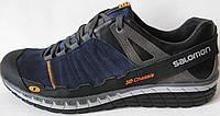 Salomon мужские осенние удобные кроссовки ботинки туфли кожа