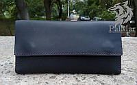 """Чоловічий портмоне гаманець клатч кожаный мужской кошелек """"Тrio2"""" ручної роботи, натуральна шкіра, на кнопці, фото 1"""