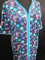 Женские велюровые халаты большого размера., фото 1