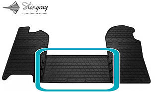 Iveco Daily V 2011- Передний средний коврик Черный в салон