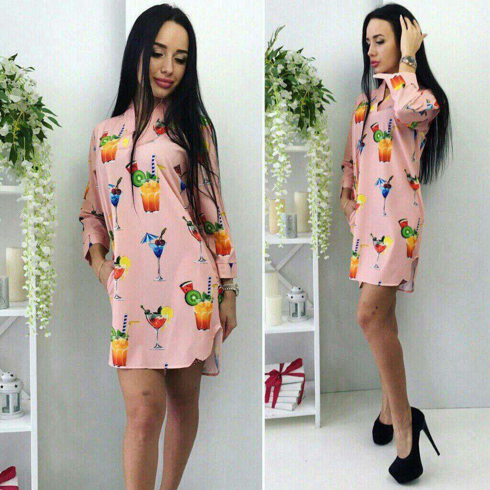 """Стильное и модное женское платье """"Полированный коттон"""" 44 размер норма"""
