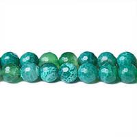 Зеленый Огненный Агат, Натуральный камень, На нитях, бусины 8 мм, Граненые, Отверстие 1 мм, кол-во: 48 шт/нить