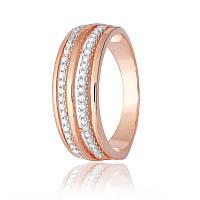 """Серебряное кольцо с камнями и позолотой """"217"""""""