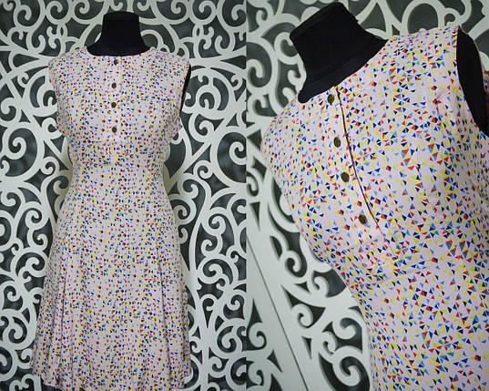"""Красивое женское платье """"Штапель"""" 46 размер норма, фото 2"""