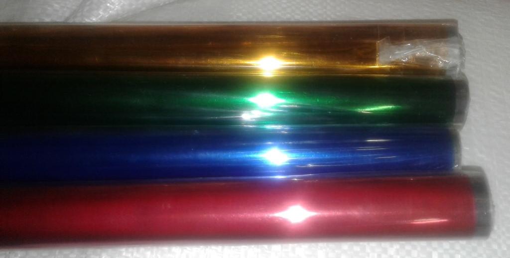Фольга-целлофан металлизированный, непрозрачный, длина 10-12 м., шир. 60см. 400гр.
