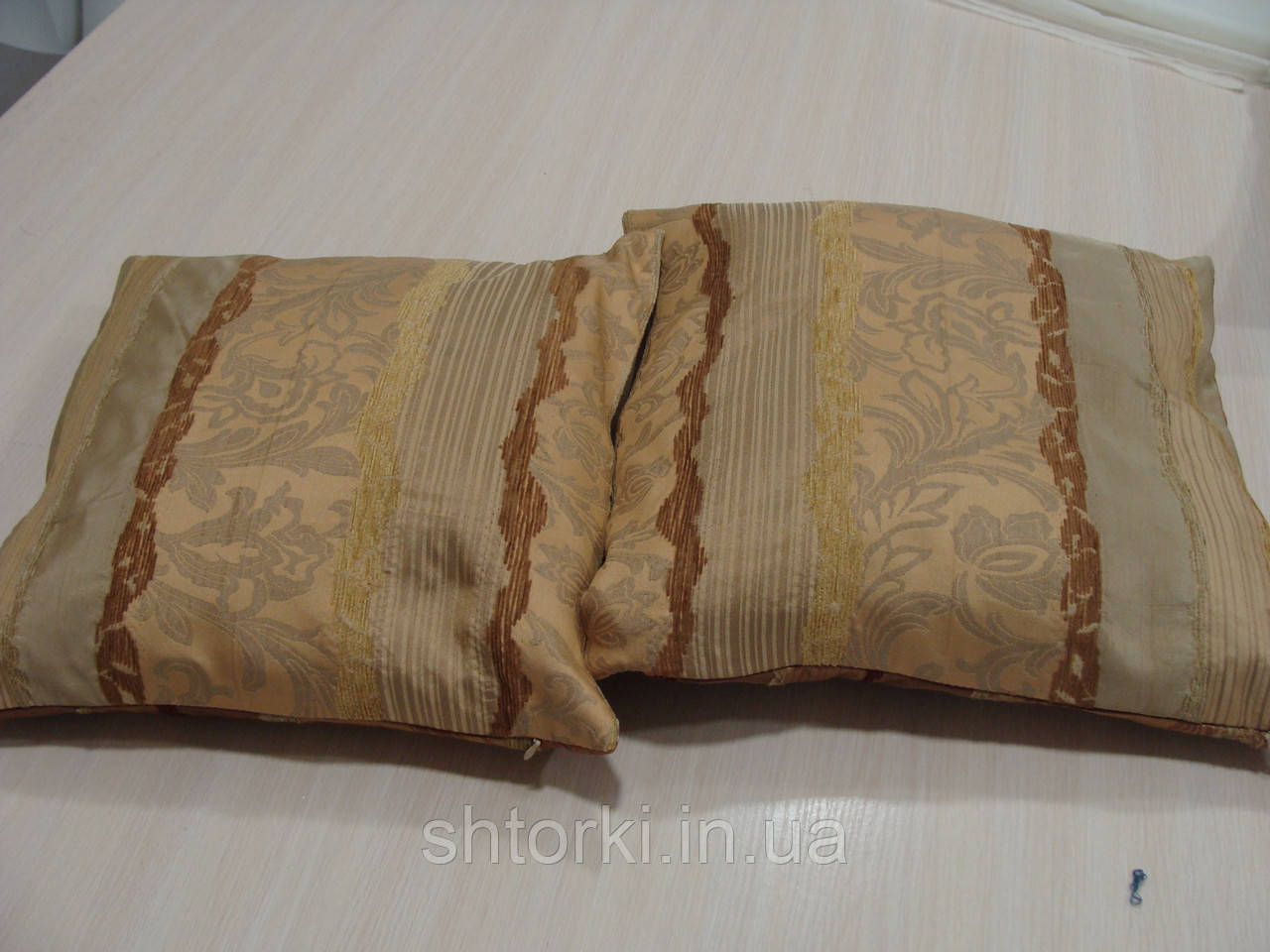 Комплект подушек Рельеф коричневые и песочные, 2 шт