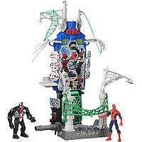 Игровой набор Человек паук в городе паутины (Marvel Spider-Man Web City Showdown Play Set),30см, Hasbro