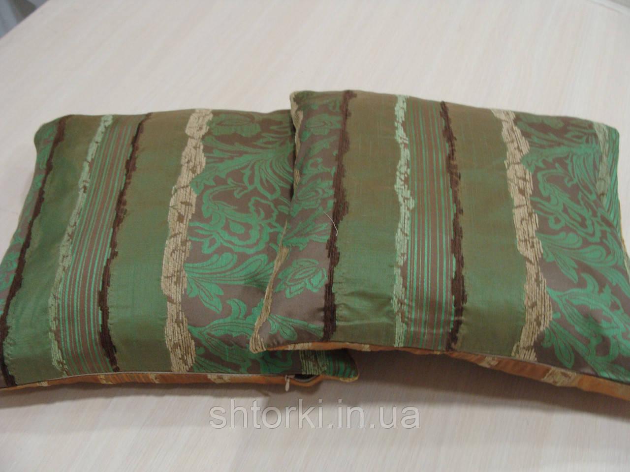 Комплект подушек Рельеф зеленые и оранж, 2 шт