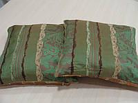 Комплект подушек Рельеф зеленые и оранж, 2 шт, фото 1