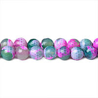 Цветной Агат, Натуральный камень, бусины 8 мм, Граненый Шар, Отверстие 1 мм, количество: 47-48 шт/нить