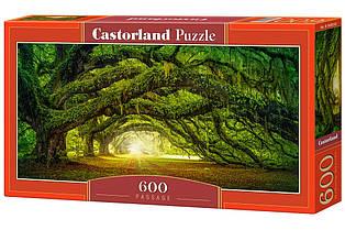 """Пазлы касторленд на 600 элементов. """"Тоннель в лесу"""".  Панорамные."""
