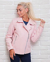 Короткое женское пальто на тонкой подкладке
