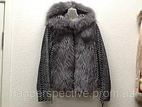 Куртка кожаная женская с мехом