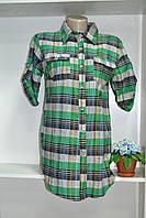 Рубашка женская короткий рукав,клетка, фото 1