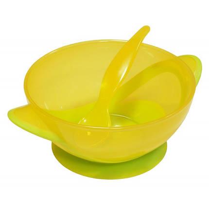 Тарелочка и ложка Baby Mix RA-D2-0611 yellow , фото 2