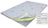 Тонкий ортопедический матрас (наматрасник) OrthoSlim3. Пена Memory с эффектом памяти.  Высота 6 см.