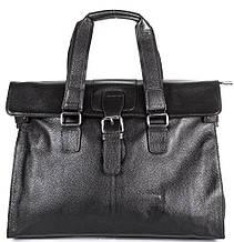 Мужской стильный кожаный портфель с отделением для ноутбука TOFIONNO (ТОФИОННО) TU8649-black