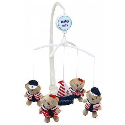 Музыкальный мобиль Baby Mix 423M Медвеженок-моряк, фото 2