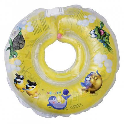Круг для купания Дельфин желтый , фото 2