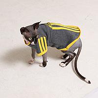 "Кофта с рукавом  для кошек ""Sport "" ™ Style Pets"
