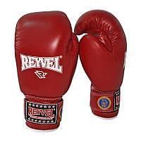 REYVEL Перчатки боксерские ФБУ (одноцвет)10oz Красные