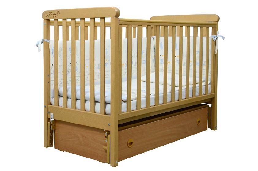 Кроватка Верес ЛД12 Соня маятник/ящик ольха