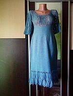 Платье ручной работы связано крючком нить хлопок