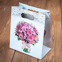 Пакет для каравая или торта с букетом (арт. C-0061)