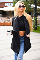 Женское демисезонное укороченное пальто из кашемира. Ткань: кашемир. Размер: с, м, л.