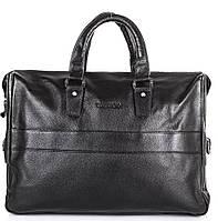 Мужской практичный кожаный портфель с отделением для ноутбука TOFIONNO (ТОФИОННО) TU8638-1-black