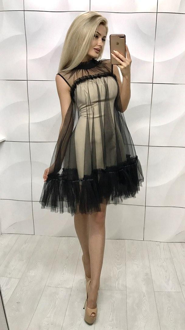 a6e894dda4d Оригинальное модное платье с фатином 606  продажа