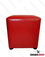 Пуф квадрат червоний, фото 2