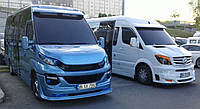 Iveco Daily 2014+ гг. Накладка на бампер (под покраску)