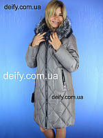 Зимнее женское полу пальто на тинсулейте (48-56) Symonder 7119. Пуховик Hailuozi, Peercat, Meajiateer, Visdeer
