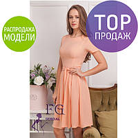 Женское нарядное платье миди, разные цвета, шифоновое / женское летнее платье на короткий рукав, новинка 2017
