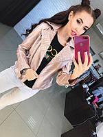 """Женская кожаная куртка-косуха с """"шипами"""""""