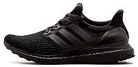 """Мужские кроссовки Adidas Ultra Boost 3.0 """"Triple Black"""" (Адидас Ультра Буст) черные"""