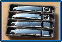 Fiat Scudo 2015+ гг. Накладки на ручки (4 шт) Хромированный пластик