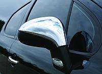 Peugeot 207 2006+ гг. Накладки на зеркала (2 шт) Carmos - Турецкая сталь