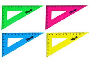 Трикутник пластиковий 11 см флюоресцентний YES 48шт/уп