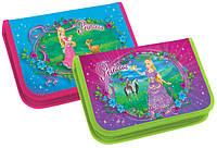 Пенал школьный KIDIS для девочек на 1 отделение картонный PRINCESS WORLD