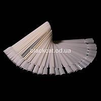Палитра веер 50 типс на кольце белая