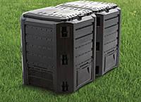 Компостер 800L Чёрный модульный 2-сегментный 1350 x 719 x 826mm Prosperplast