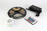 Комплект Светодиодная лента 5050 Многоцветная 5м + контроллер с пультом