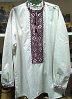 Сорочка мужская цвет серый, домотканная   , сорочка ручной вышивки от производителя модель ВГ15
