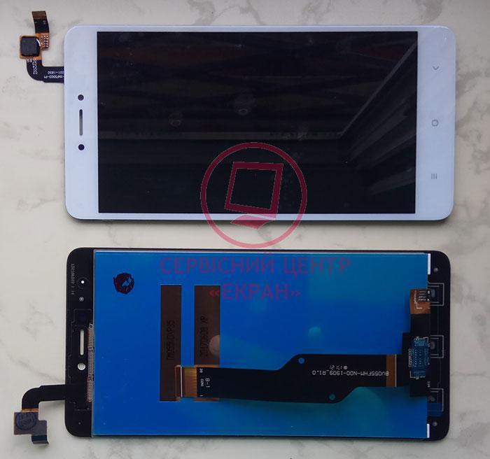 Дисплей модуль для Xiaomi Redmi Note 4x в зборі з тачскріном, білий