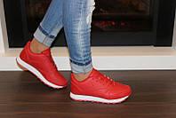 Кроссовки женские красные Т822