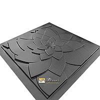 "Пластиковая форма для 3D панелей ""Лотос"" (форма для 3д панелей из абс пластика)"