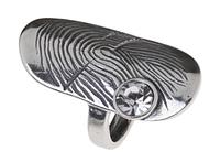 """Кольцо """"Импресс"""" с кристаллами Swarovski, покрытое серебром (r3473000)"""