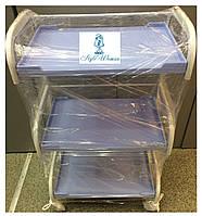 Тележка косметологическая три пластиковые полки
